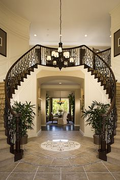 A grand entry with a great staircase is a dream for my families future.