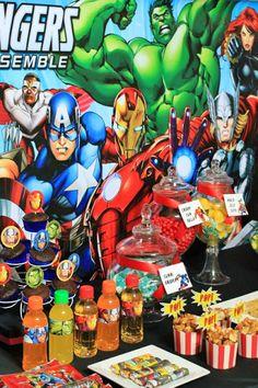 Avengers Super Heros Candy Lollies Box 6pcs or 8pcs Pack Party Table Decoration