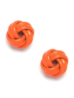 Our orange pop knot studs - new on the site today and absolutely adorable!
