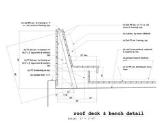 ipe bench construction detail - Google Search