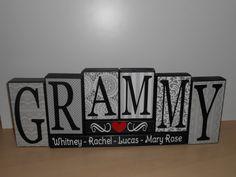 Grammy wood block Gammy Nana Mimi Gigi by CuteCreativesCreatio
