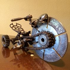 Brutus is a Found Object Metal Art Sculpture Tricycle/Chopper on Etsy, $850.00