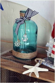 Nautical baby shower party! See more party ideas at CatchMyParty.com!