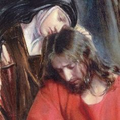 A Carmelite nun consoles Our Lord, like the angel in the Garden of Gethsemane. A beautiful vocation.