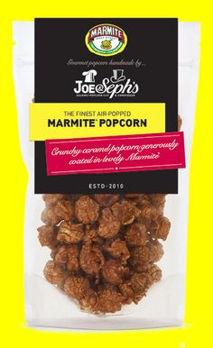Joe & Seph's teams with brand to expand gourmet popcorn range. Snack Containers, Air Popped Popcorn, Gourmet Popcorn, Salty Snacks, Marmite, Food Packaging, Packaging Design, Sweet And Salty, Food Pictures