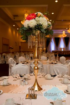 gold candelabra with bling