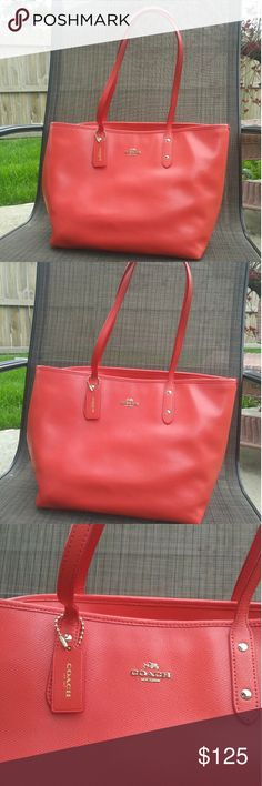 bc958ace5062 Coach city zip tote orange embossed bag Love this bag just didn t get the