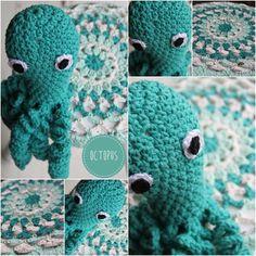 Octopus uit Inhaken op vakantie gehaakt met Eco Barbante Milano Uni van Hoooked. Gratis patroon van bijpassend krukhoesje is op mijn blog te vinden
