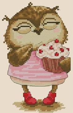 Sweet  owlCross stitch pattern pdf format by sunshinehomedecor, $2.90
