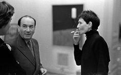 Otwarcie wystawy Sztuki Nowoczesnej w w Zachęcie, 1957. Na zdjęciu: Artur Nacht-Samborski i Artur Nacht-Samborski, fot. Tadeusz Rolke / AG