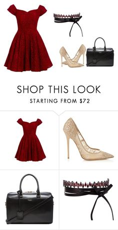 """""""Untitled #168"""" by sweetgyaldarkie on Polyvore featuring D.anna, Jimmy Choo, Yves Saint Laurent and Fallon"""