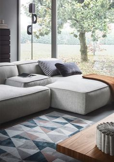 Couch colour & style Sectional fabric sofa CLOUD by Lema Affordable Couch, Cool Couches, Living Room Sofa, Furniture, Sectional Sofa, Modular Sofa, Couch Material, Living Room Seating, Sofa Design