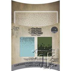 Tim Holtz Sizzix NIEVE Y ÁRBOLES QUE CAEN textura conjunto Fades carpetas de grabación en relieve 660044