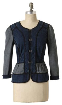 57315dd70f11b Free shipping and guaranteed authenticity on Daughters of the Liberation  Blue Anthropologie Jean Splicing Denim Jacket
