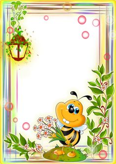 Free photo effects online. Category: Different for children Picture Borders, Bee Pictures, Boarder Designs, Boarders And Frames, Photo Frame Design, School Frame, Background Design Vector, Birthday Frames, Card Sentiments