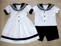 Sailor boy suit, sailor girl dress, kids party outfit, Baptism / Christening baby outfits, first birthday outfits, kids summer clothing on Etsy, $155.00