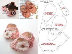 Faça você mesmo.  Sapatinhos de Tecido para Bebês, para quem tem habilidade com costura, tira de letra...    Bazar Artesanato no Facebook  https://www.facebook.com/BazarArtesanato