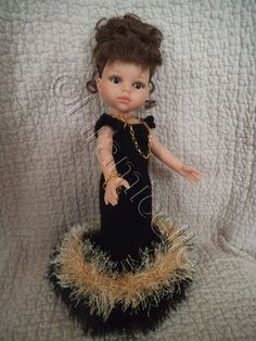 tuto gratuit paola reina: robe de soirée noire et or, dos décolleté - Chez Laramicelle