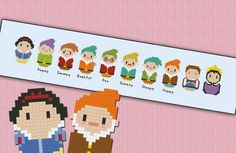 Snow white and the seven dwarfs  PDF cross stich by cloudsfactory, $7.00