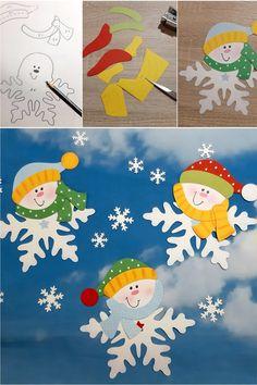 Jetzt wird's richtig frostig in der Buntpapierwelt.de. Regelmäßig neue Motive rund um den Winter mit kostenlosen Vorlagebogen und Anleitung. Diy For Kids, Crafts For Kids, Butterfly Tree, Diy And Crafts, Paper Crafts, Diy Christmas Ornaments, Winter Snow, Craft Gifts, Kids And Parenting