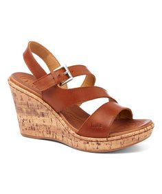 Look what I found on #zulily! Saddle Schirra Wedge Sandal #zulilyfinds