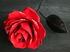 Metal Rose  Pick a color by PioneerArtisanworks on Etsy