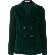 Barena velvet double breasted blazer (2.355 BRL) ❤ liked on Polyvore featuring outerwear, jackets, blazers, green, blazer jacket, green jacket, barena, green velvet blazer and double breasted jacket