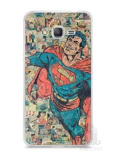 Capa Samsung Gran Prime Super Homem Comic Books