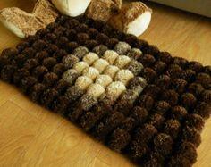 POm POM alfombra listo para enviar abuelita Chic por GypsysSummer