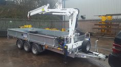 New Ifor Williams Trailer fitted with 2-3 t/m Crane / Hiab in Business, Office & Industrial, Industrial Tools, Lifting Tools | eBay!