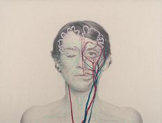 Intricately Embroidered Self-Portraits Explore Anatomy and Physics | The Creators Project