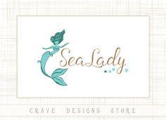 Premade Mermaid Logo Design  Children Logo by CraveDesignsStore