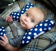 Infant/toddler car seat/stroller erfly head support pillow ...