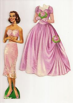 bridesmaid paper doll