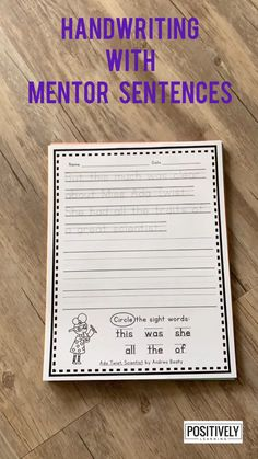 Need handwriting practice for OLDER students? These pages would be appropriate for any student needing extra support, especially in first grade and beyond. Based on 220 favorite read aloud books.