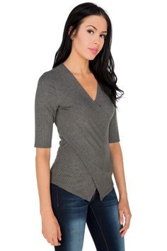 Ribbed Crossover Front Top