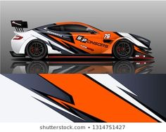 Car wrap design vector, truck and cargo van decal. Graphic abstract stripe racing background designs for vehicle, rally, race, adventure and car racing livery. Cool Sports Cars, Sports Car Racing, Win A Car Competition, Car Wrap Design, Car Paint Jobs, Racing Car Design, New Luxury Cars, Automotive Logo, Hatchback Cars