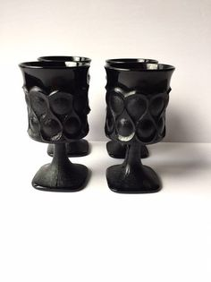831c8a03ff8 Black Goblets Noritake Spotlight Black Glass Goblets