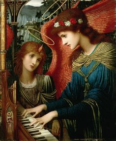 wonderingaesthetic: Saint Cecilia by John Melhuish Strudwick [British Pre-Raphaelite Painter, 1849-1935]