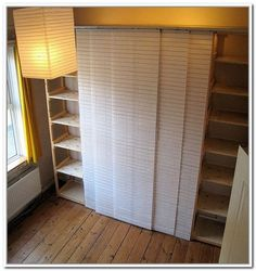 Ikea curtain panels as closet doors master bedroom - Curtains for sliding glass doors in bedroom ...