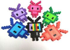 "Handmade items/ Perler Fuse Beads/ Keychain accessory/ Gifts for Geeks/ Small Cute Items/ ""Mr TV and the Robot Army"""