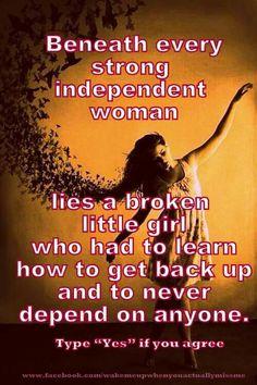 Little girls can become strong women