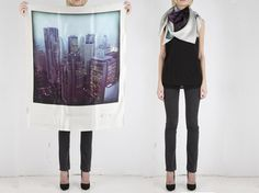 Polaroid silk scarves: To wear, or display? Perhaps a little bit of both!