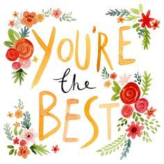 Greeting Cards - Congratulations Cards - Felicity French Illustration - Good Job / You're the Best Good Morning Quotes For Him, Good Morning Images, Lettering, Typography, Encouragement, You're Awesome, Happy Quotes, Words Quotes, Sayings