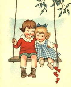 Adorable vintage Valentine card