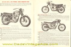 1965 Triumph Motorcycle 14-Page Catalog / Brochure