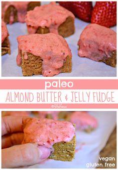Paleo Almond Butter and Jelly Fudge | Healthy Dessert | Vegan | Gluten Free | 4 Ingredients | No Bake Desserts | Easy Desserts | Meatless Monday | Paleo Recipes