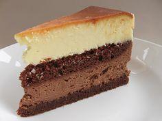 Dark and White CHocolate Cheesecake (via gnuf) 1...
