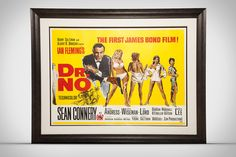 Dr No James Bond Sean Connery Vintage Movie Poster Framed Print by Design Turnpike Movie Poster Frames, Movie Posters, Poster Prints, Framed Prints, Bond Girls, Sean Connery, Vintage Maps, Classic Films, Frame Shop