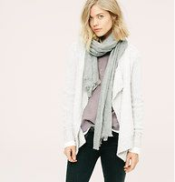 Lou & Grey Contrast Cardigan - Introducing a new line of easy, texture-rich pieces for your every day. Touchably textured with a two tone effect, this wool infused knit is made for cozying up. Open front. Long sleeves. Ribbed placket, cuffs and hem.